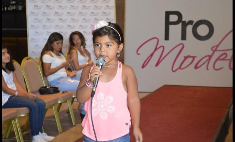Florencia de tan sólo cinco años, fue la postulante más pequeña del casting.