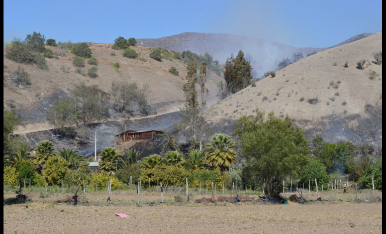 Acusan a ciber ovallinos de adjudicarse incendios forestales en la zona