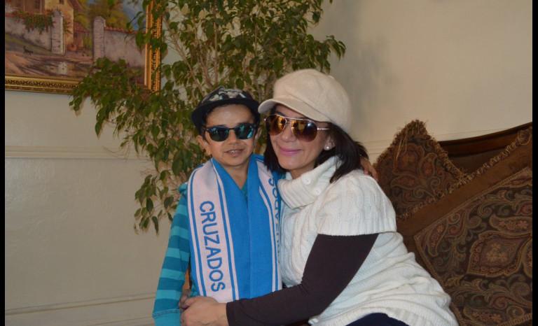 Miguelito y su 'mami', de paso por Ovalle