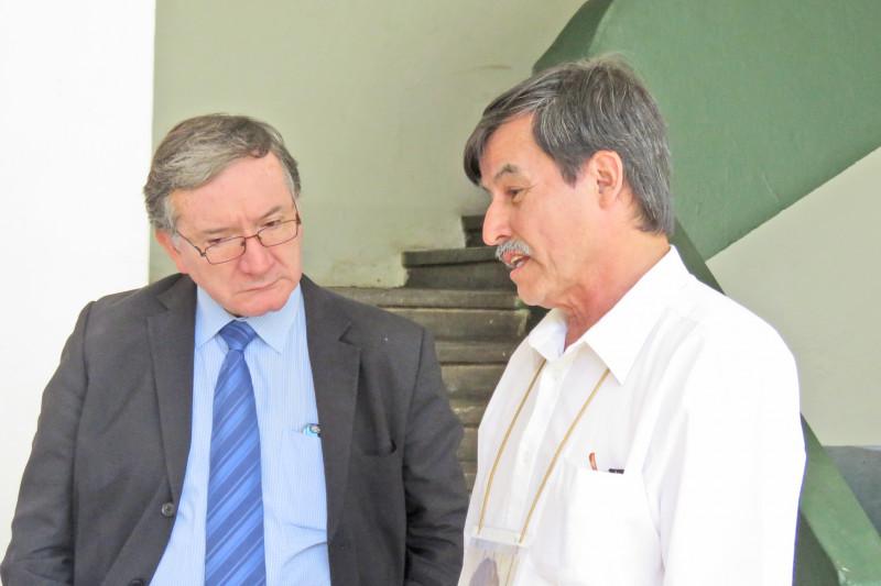 querellante Nicolás Barrantes en la Tercera Comisaría de Ovalle.