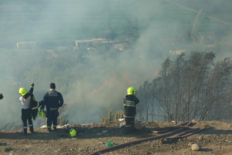 Incendio en La Chimba