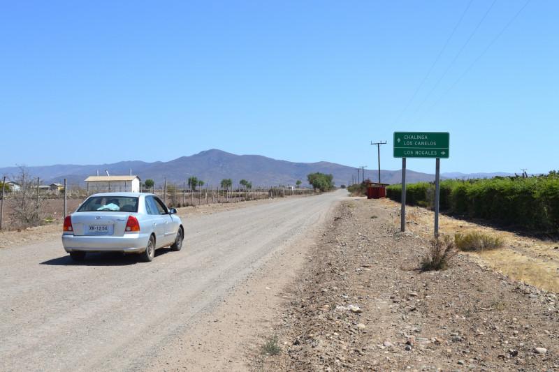 Los Nogales, camino mal estado