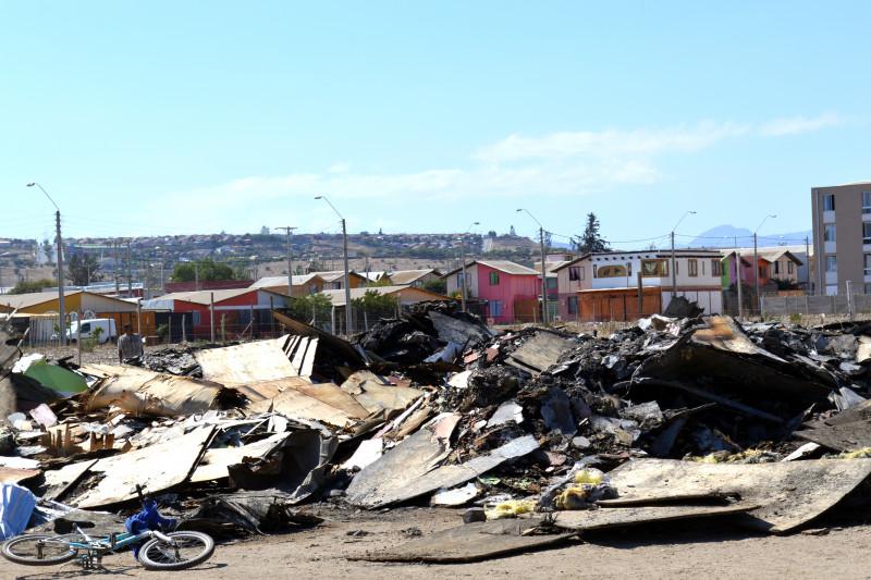 Incendio, Dabed, escombros