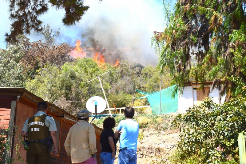 Incendio La Chimba