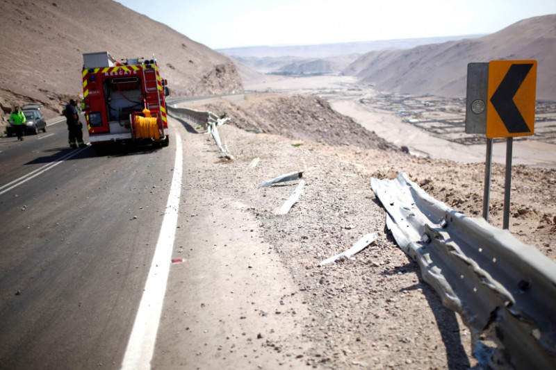 Accidente, familia ovallina, Arica