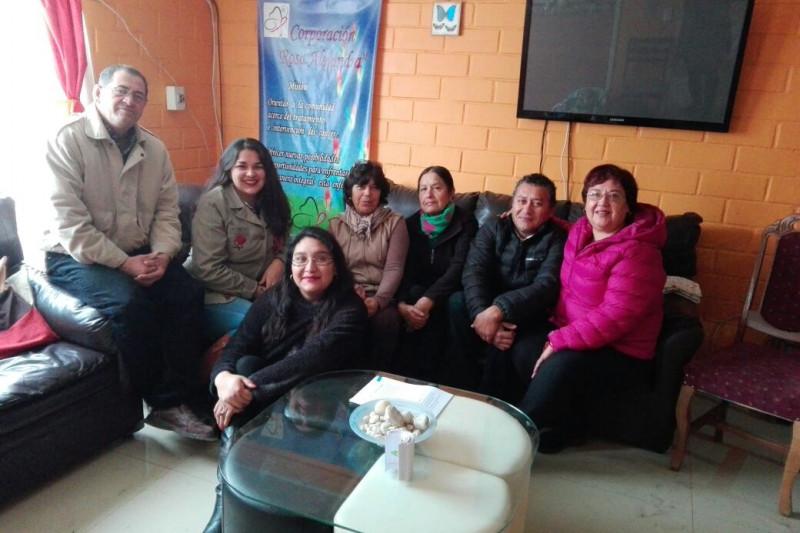 En la imagen, algunos de los miembros de la Corporación Rosa Alejandra.