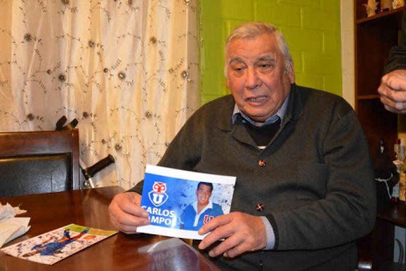 """Carlos """"Tanque"""" Campos reside en la comuna de Ovalle, bajo el cuidado de su hijo y familiares."""