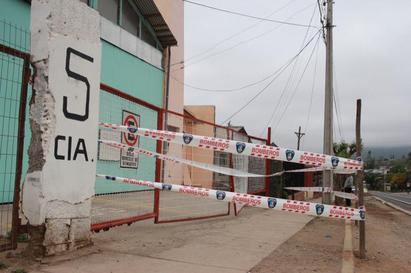 Bomberos en problemas: Terremoto destruyó cuartel de la Quinta Compañía de Sotaquí