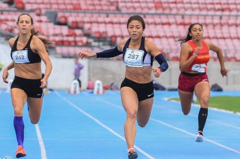Viviana Olivares gana en los 100 metros en campeonato nacional